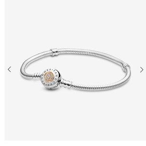 Pandora Moments Logo Charm Bracelet